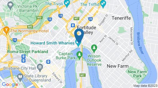 Oakwood Hotel & Apartments Brisbane Map