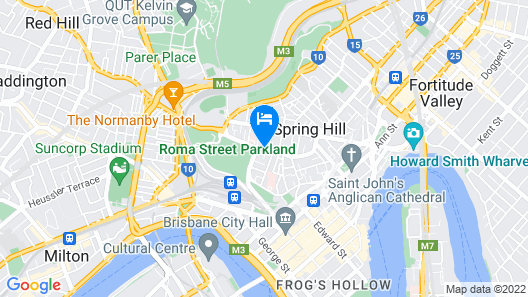 Hotel Grand Chancellor Brisbane Map