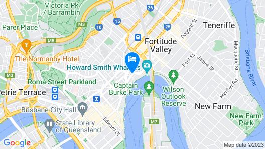 Meriton Suites Adelaide Street, Brisbane Map