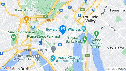 Quattro on Astor Apartments Brisbane by Restt Map