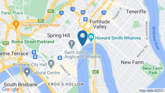 River View Suites in the Heart of Brisbane Map