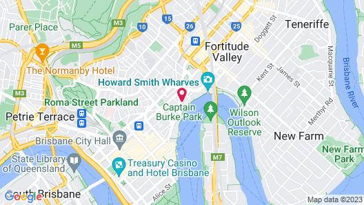 Brisbane Marriott Hotel Map