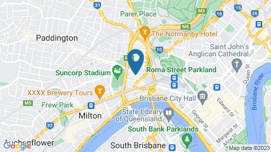 Gambaro Hotel Brisbane Map