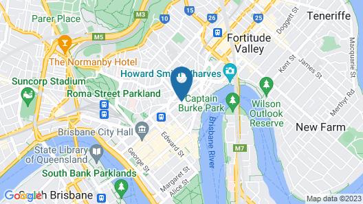 Oaks Brisbane Lexicon Suites Map