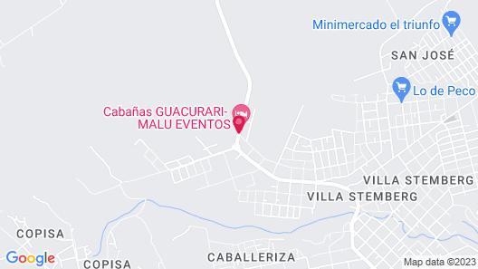 Cabañas Guacurari Map