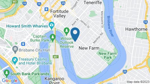 Bowen Terrace Accommodation Map