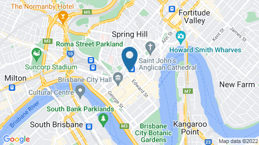 Adina Apartment Hotel Brisbane Anzac Square Map