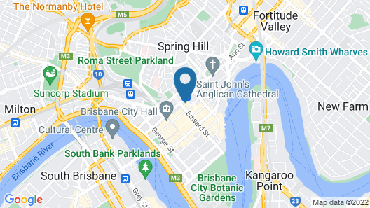 Brisbane City Apartments (Central Station) Map