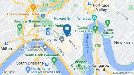Nomads Brisbane Hostel Map