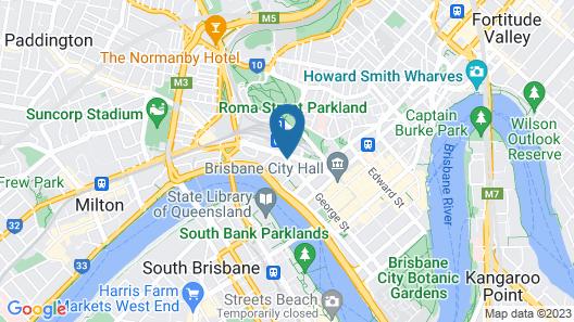 Base Backpackers Brisbane Uptown - Hostel Map