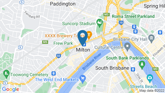 2 Bed Brisbane Resort Apartment Map