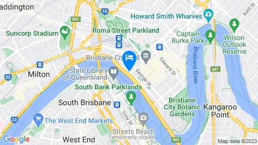 Mercure Hotel Brisbane Map