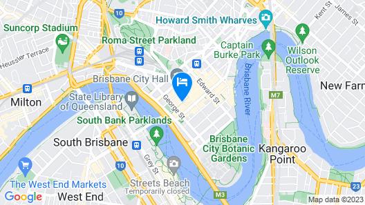 NEXT Hotel Brisbane Map