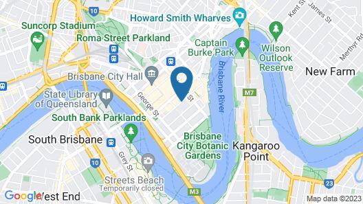 Oaks Brisbane on Charlotte Suites Map