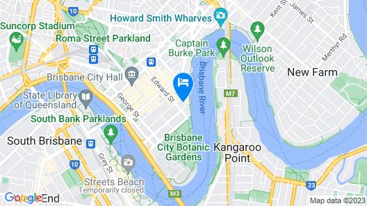 Oaks Brisbane on Felix Suites Map