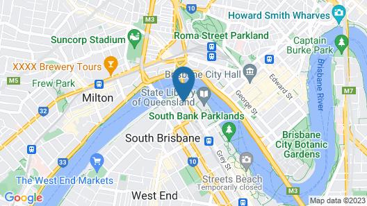 Riverside Hotel Southbank Map