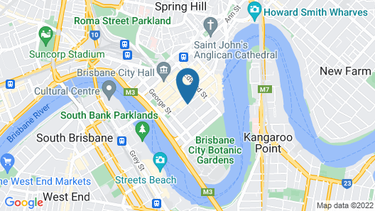 The Sebel Brisbane Map