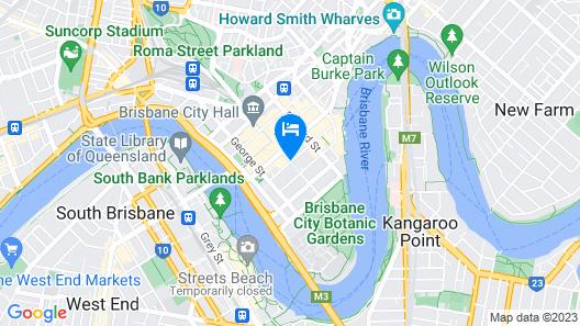 The Sebel Brisbane Map