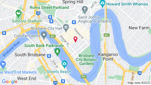 Oaks Brisbane Festival Suites Map