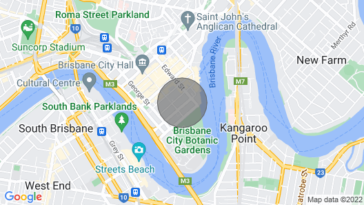 Sky High 2 Bedroom Apartment in Central Brisbane Map