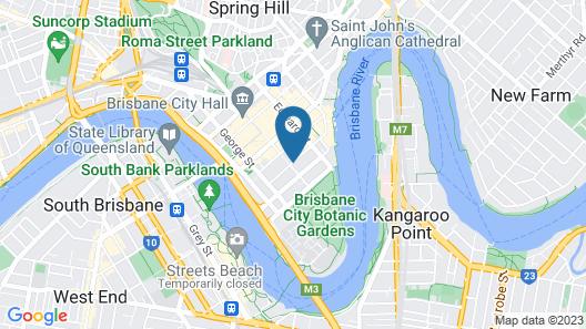 iStay River City Brisbane Map