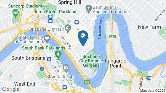 Rivercity CBD Apartment Map