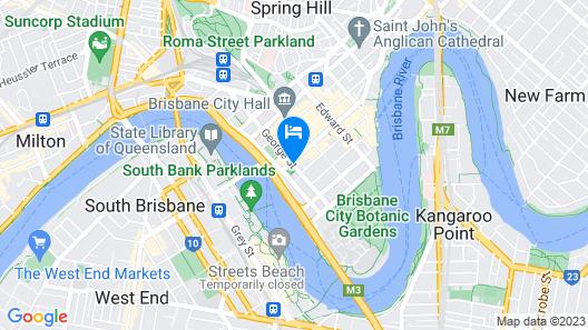 Adina Apartment Hotel Brisbane Map