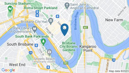 Oaks Brisbane on Margaret Suites Map