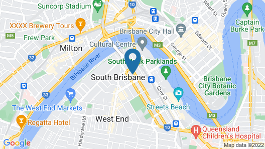 Homely Apartment in South Brisbane Map