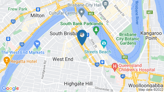 Novotel Brisbane South Bank Hotel Map