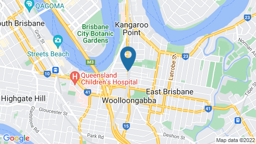 Kangaroo Point Central Map