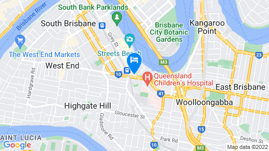 Homely Apartments in Southbank Map