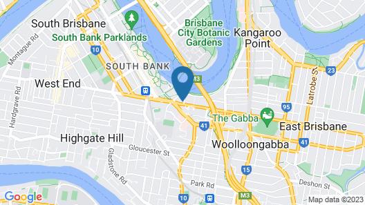 Courtyard by Marriott Brisbane South Bank Map