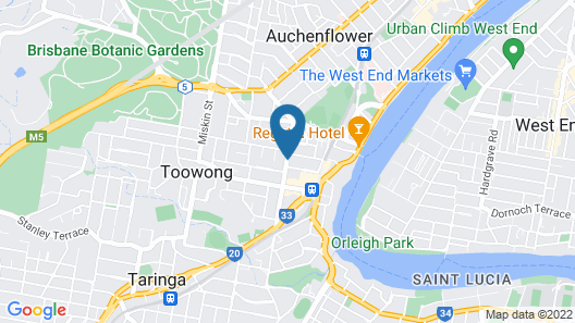 Toowong Central Motel Apartments Map