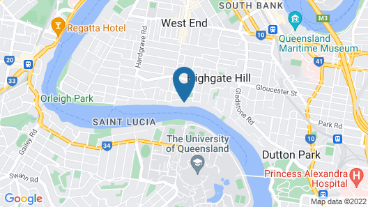 Riverpark-studio apartment Map
