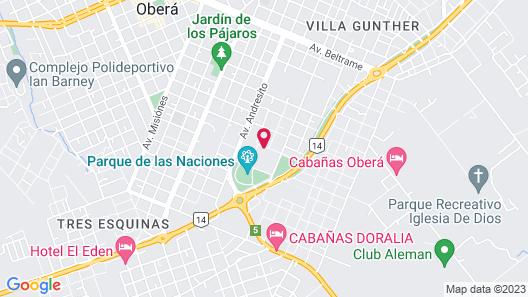 Hotel Cabanas del Parque Map