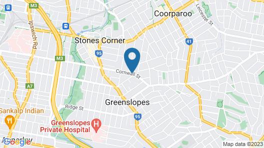 Greenslopes Motor Inn Map