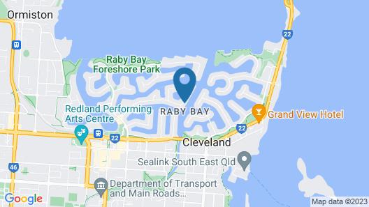 Bella Vista of Raby Bay Bed & Breakfast Map