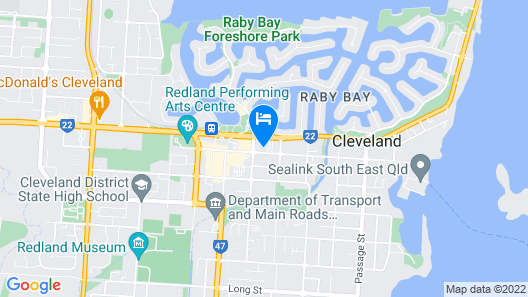 Comfort Hotel Pacific Cleveland Map