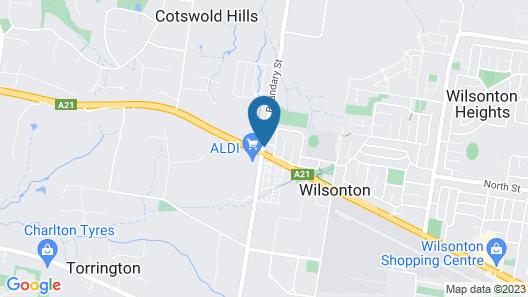 Cotswold Motor Inn Map