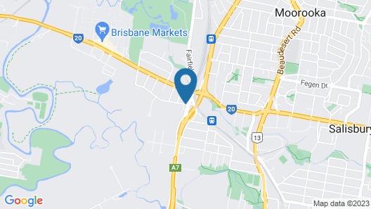 Rocklea International Motel Map