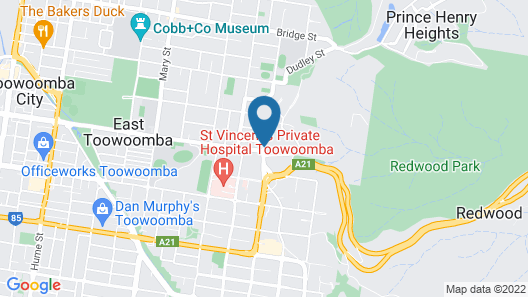 Motel Glenworth Toowoomba Map