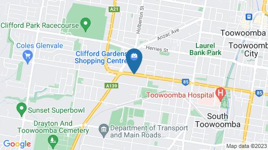 Clifford Gardens Motor Inn Map
