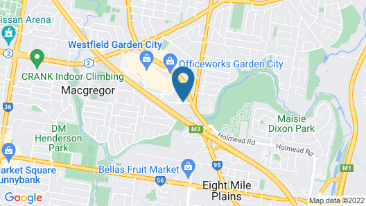 Travelodge Hotel Garden City Brisbane Map