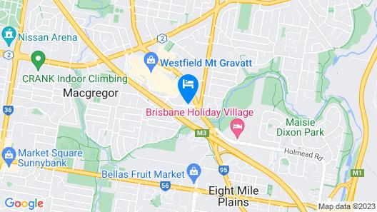 Travelodge Hotel Garden City Brisbane Map