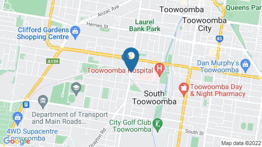 City Motor Inn Toowoomba Map