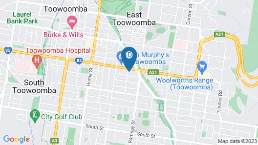 Country Gardens Motor Inn Toowoomba Map