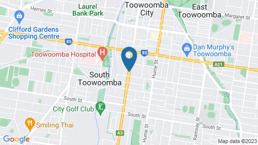 Downs Motel Map