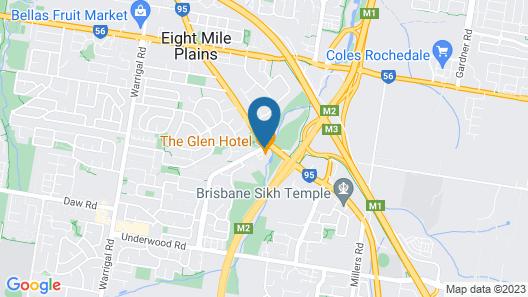 The Glen Hotel & Suites Map