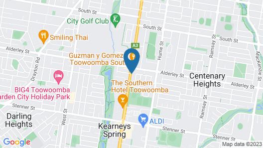 Allan Cunningham Motel Map